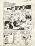 "Original Comic Art:Complete Story, Bob Powell - First Romance Magazine #10 Complete 6-page Story ""PastDishonor"" Original Art (Harvey, 1951). Torn between what... (36Original Art)"