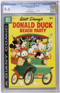 Dell Giant Comics - Donald Duck Beach Party #5 File Copy (Dell, 1958) CGC NM 9.4 Off-white pages