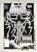 Original Comic Art:Covers, Ron Randall and Rick Maygar - Arak, Son of Thunder #33 Cover andPanel Page Original Art, Group of 14 (DC, 1984). Arak is de... (14items)