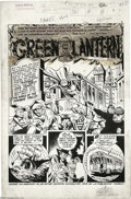 Original Comic Art:Splash Pages, Paul Reinman and Sam Burlockoff - All-American Comics #55, SplashPage 1 Original Art (DC, 1944). Green Lantern takes the of...