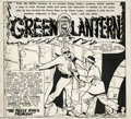 Original Comic Art:Panel Pages, Paul Reinman - Golden Age Green Lantern Unpublished Partial PageOriginal Art (DC, 1949). The iron-willed Green Lantern find...
