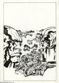 Original Comic Art:Covers, David Roach (attributed) - Unpublished Jack Kirby Tribute, New GodsCover Original Art (1994) Darkseid and Orion face off as...