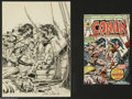 Original Comic Art:Covers, John Romita Sr. and John Buscema - Conan the Barbarian #58 CoverOriginal Art (Marvel, 1976). This issue saw the long-awaite...