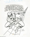 Original Comic Art:Splash Pages, John Romita Sr. - Spider-Man Poster Original Art (Marvel, 1978).Hey there Marvelite, shake hands with your friendly neighbo... (2items)