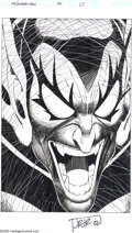 Original Comic Art:Splash Pages, John Romita Jr. and Scott Hanna - Peter Parker: Spider-Man #98Splash Page 1 Original Art (Marvel, 1998). It's a case of del...