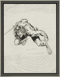 Original Comic Art:Sketches, Barry Smith and Rich Buckler - Conan Sketch Original Art (undated). Barry Smith has penciled a pulse-pounding portrait of Co...