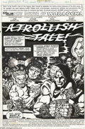 Original Comic Art:Splash Pages, Jim Starlin and Steve Leialoha - Warlock #12 Splash Page 1 OriginalArt (Marvel, 1976). The scene: Mama Alpha's Cabaret, upo...