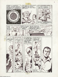 Jim Starlin - Death of Captain Marvel Graphic Novel, page 4 Original Art (Marvel, 1982). The straight from the heart Dea...