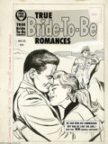 Original Comic Art:Covers, Marvin Stein (attributed) - Unpublished True Bride-To-Be Romances#31 Cover Original Art (Harvey, circa 1958). This up-close...