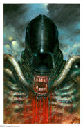 Original Comic Art:Covers, Arthur Suydam - Aliens: Genocide #1 Cover Original Art (Dark Horse, 1991). Few fantasy artists can successfully match the te... (2 items)