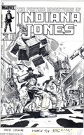 Original Comic Art:Covers, Herb Trimpe - The Further Adventures of Indiana Jones #15 CoverOriginal Art (Marvel, 1984). The famed archaeologist, Indian...