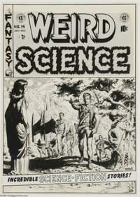 Wally Wood - Weird Science #14 Cover Original Art (EC, 1952). Many of the top comic artists of the 1950s gravitated to E...