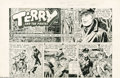 Original Comic Art:Comic Strip Art, George Wunder - Terry and the Pirates Promotional Comic StripOriginal Art (Chicago Tribune, 1967). Terry Lee nearly gets ru...