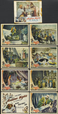 "Movie Posters:Adventure, Arabian Nights (Universal, 1942). Lobby Card Set of 8 and a reissueLobby Card (11"" X 14""). Adventure.... (Total: 9 Items)"