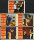 "Movie Posters:Crime, Deception (Warner Brothers, 1946). Lobby Cards (5) (11"" X 14""). Crime.... (Total: 5 Items)"