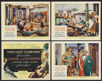 """Caesar and Cleopatra (United Artists, 1946). Title Lobby Card and Lobby Cards (3) (11"""" X 14""""). Drama.... (Tota..."""