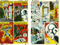 Original Comic Art:Miscellaneous, Bill Everett - Silver Surfer #1 Color Guide, Group of 38 (Marvel,1968). Behold the sky-born spanner of a trillion galaxies ... (38items)