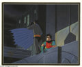 "Original Comic Art:Miscellaneous, ""Batman: The Animated Series"" Batman and Robin Production Cel and Background (Warner Bros., 1992). In the ""Batman: The Anima... (2 items)"