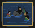 "Original Comic Art:Miscellaneous, ""Batman: The Animated Series"" Batman, Robin, and Batgirl ProductionCel (Warner Bros., 1992). Batman steps in to save Robin ... (2items)"