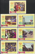 "Movie Posters:Action, Batman (20th Century Fox, 1966). Lobby Cards (7) (11"" X 14"").Action.... (Total: 7 Items)"