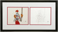 Original Comic Art:Miscellaneous, Mickey's 60th Birthday Special Animation Drawing and Production Cel(Walt Disney Company, 1988). Roger Rabbit shows the audi... (3items)
