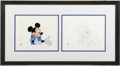 Original Comic Art:Miscellaneous, Mickey's 60th Birthday Special Animation Drawing and Production Cel(Walt Disney Company, 1988). In honor of Mickey Mouse's ... (3items)