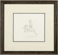 "Original Comic Art:Miscellaneous, Pecos Bill Original Pencil Animation Drawing (Walt Disney, 1948).Here is an original animation pencil drawing from the ""Pec..."