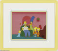 Original Comic Art:Miscellaneous, The Simpsons Hand-Painted Cel Set-Up (20th Century Fox, undated).America's first family of ink and paint has gone from one ... (2items)
