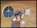 """Original Comic Art:Miscellaneous, """"Bedtime For Sniffles"""" Sniffles the Mouse Production Cel (WarnerBros., 1940). Here is a cel set-up featuring one of Chuck J... (2items)"""