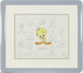 Original Comic Art:Miscellaneous, The Model Series: Tweety Bird Limited Edition Hand-Painted Cel #329/500 (Warner Bros., 1991). This hand-painted limited edit... (2 items)