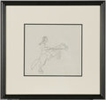 Original Comic Art:Miscellaneous, Warner Bros. Animation - Native American on Horseback AnimationDrawing Original Art (Warner Bros., undated). A snappy penci...