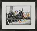 Original Comic Art:Miscellaneous, Walt's Train Hand-Painted Character Cel Set-up #248/950 (The WaltDisney Company, 1993). This is number 248 in a limited edi... (2items)