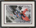 Original Comic Art:Paintings, Alex Ross - Superman: Twentieth Century Limited Edition Print#84/350 (Warner Bros., 1998). Superman takes to the skies in t...