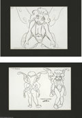 "Original Comic Art:Miscellaneous, Wizards ""Princess Elinore"" Model Sheet, Group of 2 (BakshiProductions, 1975). The full-figured form of Princess Elinorefil... (2 items)"
