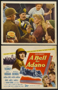"""Movie Posters:Drama, A Bell for Adano (20th Century Fox, 1945). Title Lobby Card and Lobby Card (11"""" X 14""""). Drama.... (Total: 2 Items)"""