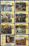 "Movie Posters:War, To Hell and Back (Universal, 1955). Lobby Card Set of 8 (11"" X14""). War.... (Total: 8 Items)"