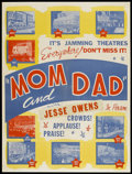 "Movie Posters:Sexploitation, Mom and Dad (Roadshow, 1945). Poster (30"" X 40""). Sexploitation...."