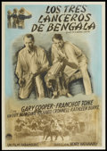 "Movie Posters:Adventure, The Lives of a Bengal Lancer (Paramount, R-1940s). ArgentineanPoster (30"" X 42.5""). Adventure...."