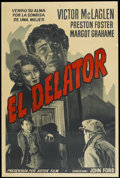 "Movie Posters:Drama, The Informer (RKO, R-1940s). Argentinean Poster (29"" X 43"").Drama...."