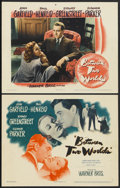"Movie Posters:Mystery, Between Two Worlds (Warner Brothers, 1944). Title Lobby Card andLobby Card (11"" X 14""). Mystery.... (Total: 2 Items)"