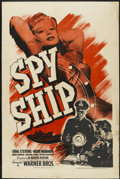 "Movie Posters:War, Spy Ship (Warner Brothers, 1942). One Sheet (27"" X 41""). War...."