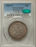 Bust Half Dollars, 1820/19 50C Curl Base 2, O-102, R.1, XF45 PCGS. CAC. PCGS Population: (4/22). NGC Census: (8/30). XF45. ...