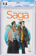 Modern Age (1980-Present):Science Fiction, Saga #1 (Image, 2012) CGC NM/MT 9.8 White pages....