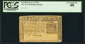 Colonial Notes:New York, New York September 2, 1775 $10 PCGS Extremely Fine 40.. ...