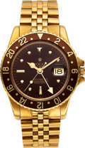 """Timepieces:Wristwatch, Rolex, 18k YG Ref. 1675, GMT-Master, From The Private Collection OfHollywood Actor James """"Jimmy"""" Darren, circa 1972"""