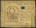 Colonial Notes:Continental Congress Issues, Continental Currency February 26, 1777 $30 Fine-Very Fine.. ...