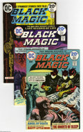 Bronze Age (1970-1979):Horror, Black Magic Group (DC, 1973-74) Condition: Average VF+. Three-issuelot includes #1, 3, and 4. Approximate Overstreet value ... (3Comic Books)