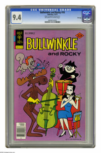 Bullwinkle #18 File Copy (Gold Key, 1977) CGC NM 9.4 Off-white to white pages. Overstreet 2005 NM- 9.2 value = $18. CGC...