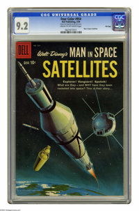Four Color #954 Man in Space: Satellites -- File Copy (Dell, 1959) CGC NM- 9.2 Cream to off-white pages. Overstreet 2005...