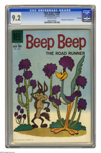 Four Color #1008 Beep Beep the Road Runner -- File Copy (Dell, 1959) CGC NM- 9.2 Off-white pages. Overstreet 2005 NM- 9...